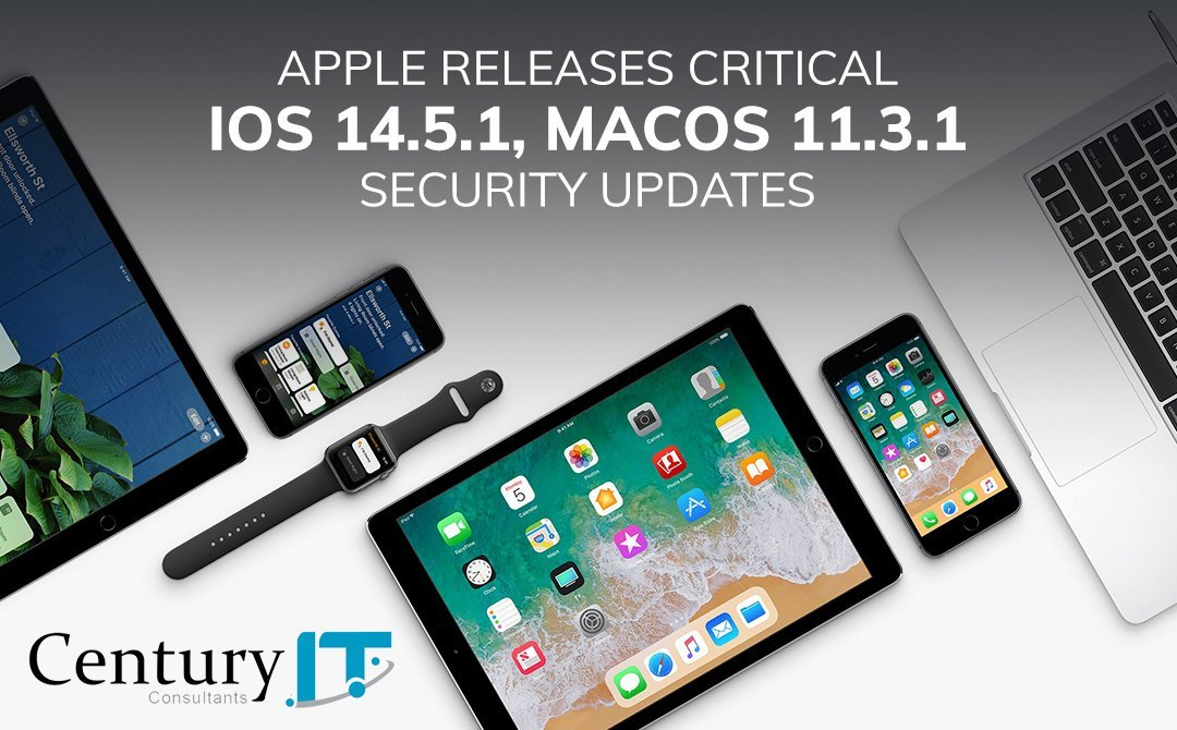 Apple releases critical iOS 14.5.1, macOS 11.3.1 security updates